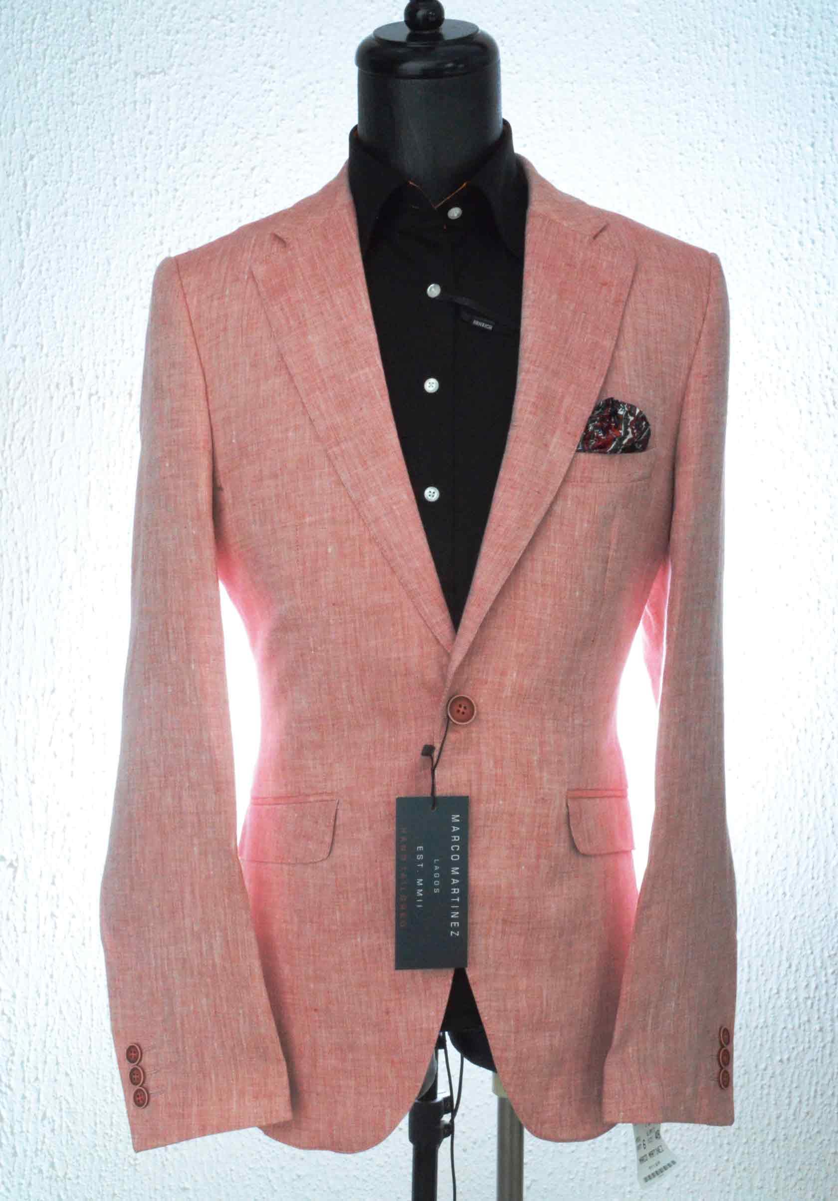MRC Peach Linen Jacket - Marco Martinez Lagos Marco Martinez