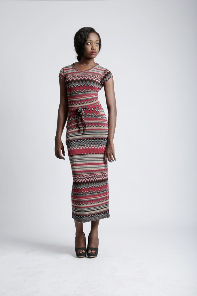 e711a67040 Marco Martinez Ladies Ikat Stripe Maxi Dress   Marco Martinez