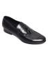 Black Pinch Fringe Shoe