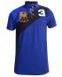 Marco Martinez Judah Cross Stripe Polo Shirt -BLUE