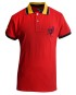 Wide Stripe Contrast Collar MRC Polo – Red