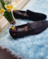 MRC Black Velvet Slipper